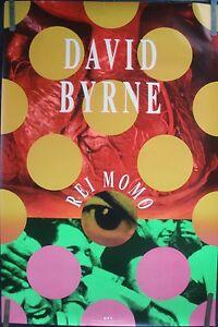 DAVID-BYRNE-TALKING-HEADS-REI-MOMO-1989-VINTAGE-MUSIC-RECORD-STORE-PROMO-POSTER