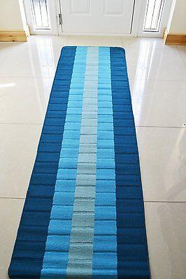 non slip machine washable kitchen hall utility modern colourful runner rug mat