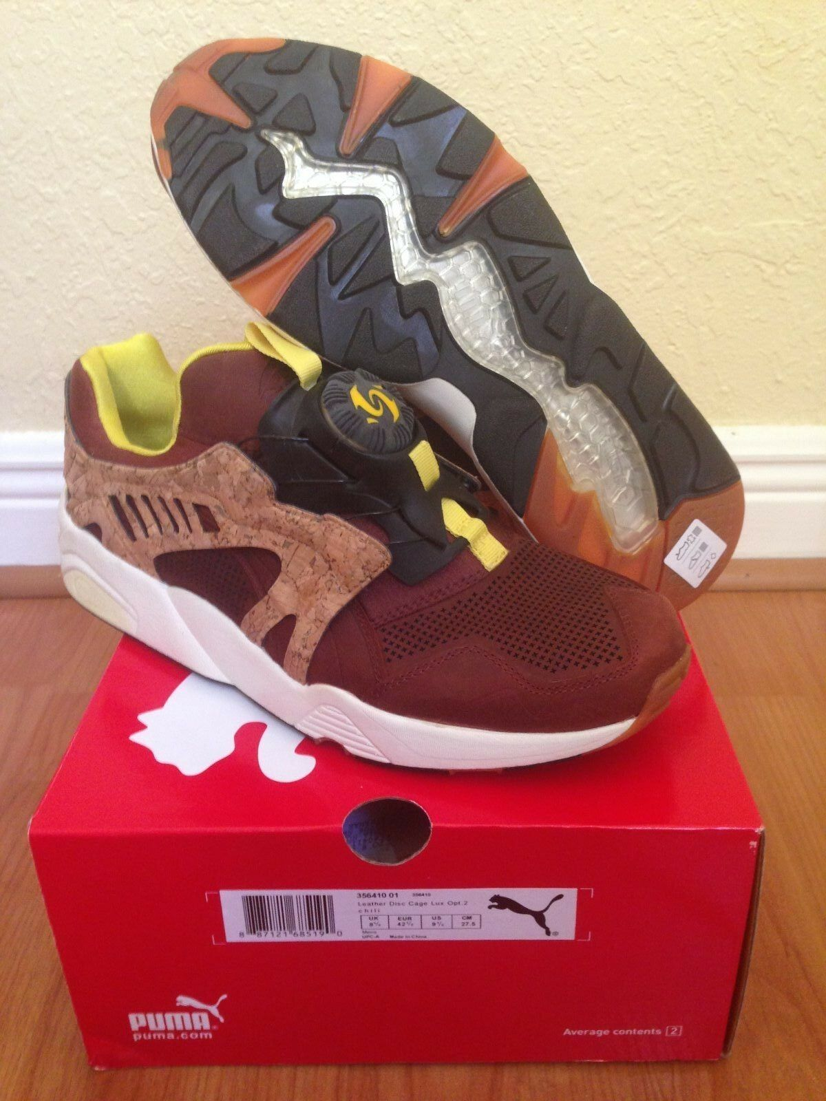 Puma Disc Leather Cage Lux Opt 2  Cork Pack  - Sz 9.5 - New DS - Free Ship