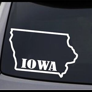 3 Pack Iowa State Map Ia Home State Outline Permanent Vinyl Decal