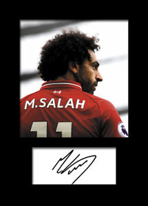 reputable site cbdcd 83aa7 Details about Mohamed Salah #4 - Liverpool Signed Photo A5 Mounted Print -  FREE DELIVERY