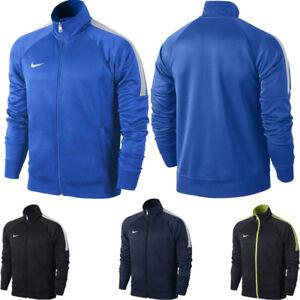 Nike Mens Track Jacket Full Zip Team Training Sports Tracksuit Top S,M,L Black