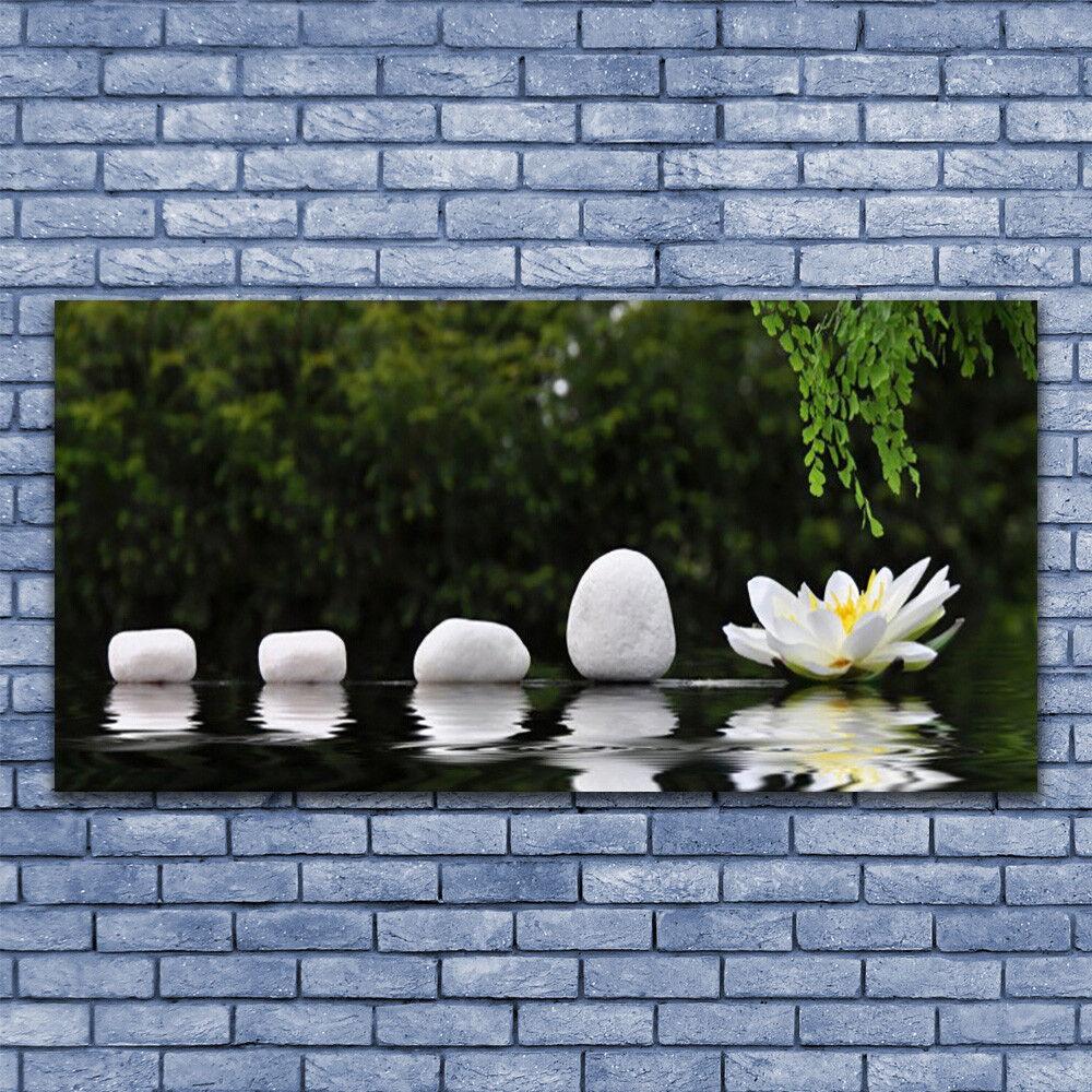 Acrylglasbilder Wandbilder Druck 140x70 Steine Blaume Kunst