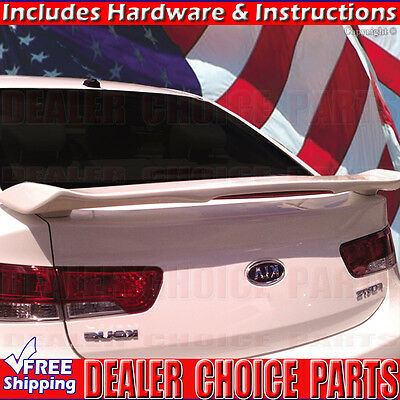 Primer ABS Rear Trunk Spoiler Wing For 10-13 Kia Forte Koup Coupe and Sedan