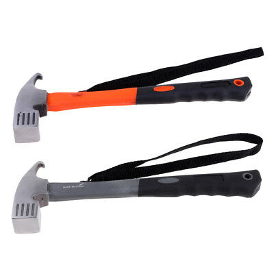 Camping Steel Mallet Hammer Pegs Stake Nail Puller Remover Tool Tent Accessories