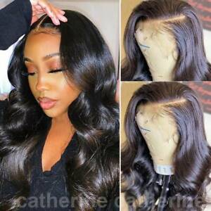 Pre-Plucked-Wavy-100-Remy-Indian-Virgin-Human-Hair-Wig-Lace-Front-Full-Lace-Wig