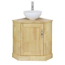 Bagno angolo mobiletto in rovere massello & Ferro lavabo in ceramica lavandino rubinetto & Plug