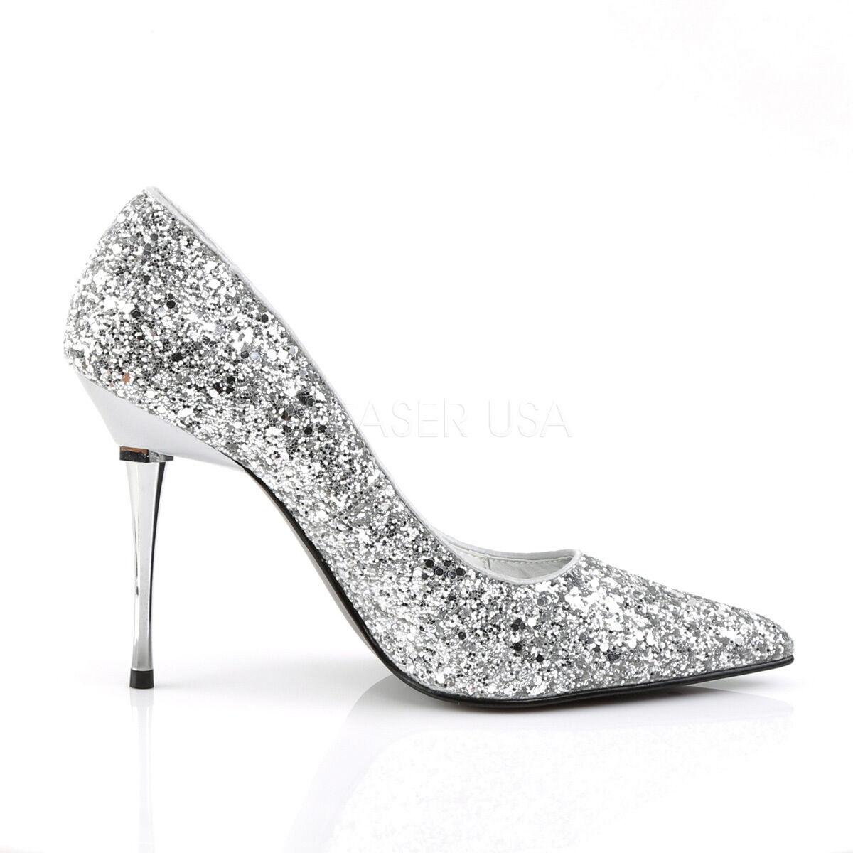 Appeal Silver Glitter Sole Pointy Toe 4