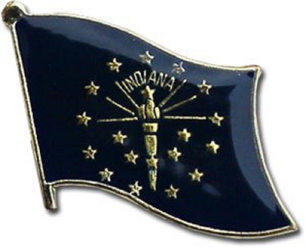 Großhandel 50 Stück Packung Staat Staat Staat Indiana Flagge Fahrrad Hut Kappe Reversnadel c2a001
