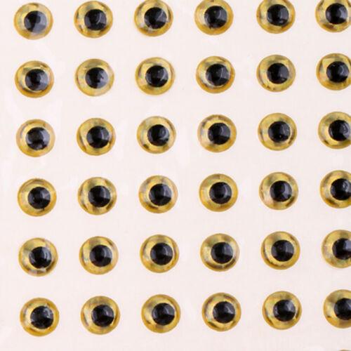 100 stücke Fischköder Augen 3D Holographische Augen Fliegenbinden Jigs Crafts