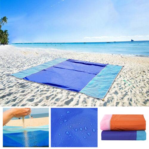 Sand Free Beach Blanket Waterproof Mat Outdoor Portable Camping Picnic Pockets