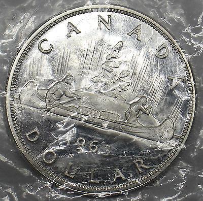 1x 1962 1963 Canada Dollar PL Proof Like 80/% Silver UNC Elizabeth II BU Mint