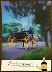 1973 Drambuie Scotch Whisky Based Liqueur PRINT AD Couple Park Horse & Carriage