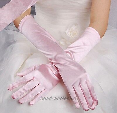 NEW Fashion Satin long gloves opera wedding Bridal Evening party costume GLOVES