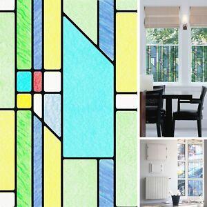 NEW DIY Window Busko Stained Glass Effect Vinyl Self ...