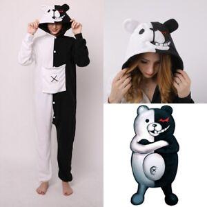 Adult-Unisex-Danganronpa-Monokuma-Cosplay-Kigurumi-Jumpsuit-Pajamas-Polar-Fleece