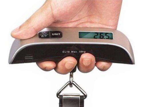 50KG Digital Travel Portable Handheld Weighing Luggage Scales Suitcase Bag