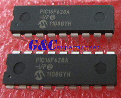 10PCS IC PIC16F628A-I/P PIC16F628A  DIP-18 Microchip NEW GOOD QUALITY