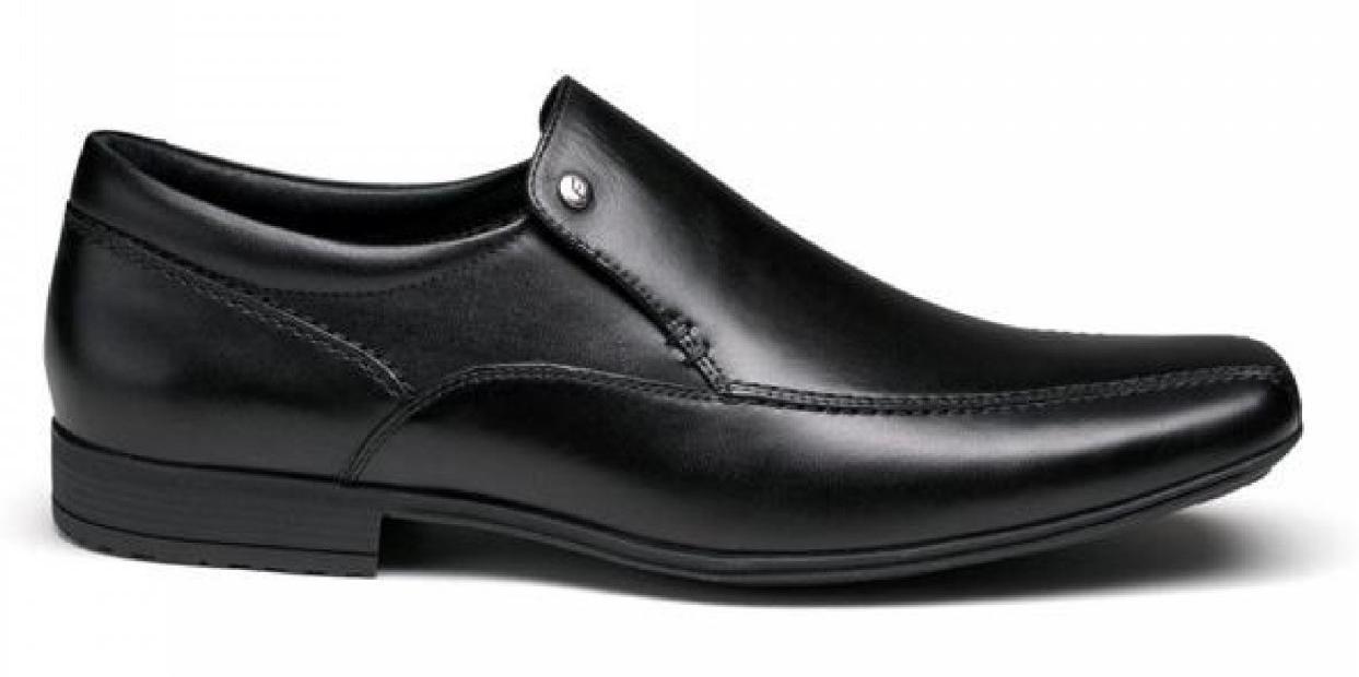 Front BELMONT Slip-on homme en cuir Slip-on BELMONT Chisel Toe Comfy Jalonnage Mocassins Chaussures Noir 15f381