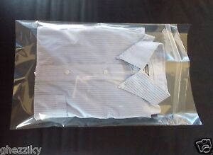 11 x 17 clear poly dress shirt resealable plastic bags 2 for Clear plastic dress shirt bags