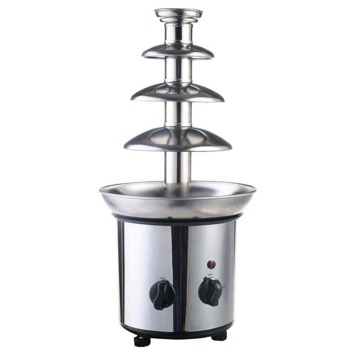 Hot  4 Tiers Commercial Stainless Steel Luxury Chocolate Fondue Fountain US SHIP