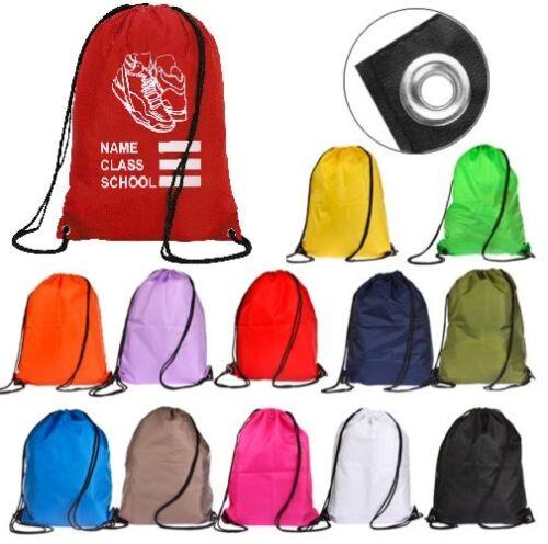 Sports Drawstring Bag Unisex – Book Bag PE Bag Gym School Bag Swim Dance