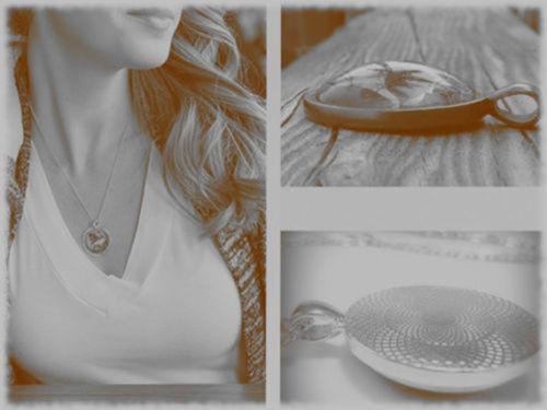 Moonlight Unicorn Photo Cabochon Glass Tibet Silver Chain Pendant Necklace women