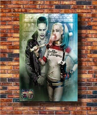 T1855 30 24x36 Silk Poster Suicide Squad Harley Quinn and The Joker Art Print