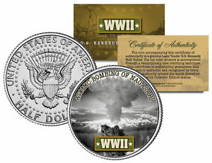 World-War-II-ATOMIC-BOMBING-OF-NAGASAKI-JFK-Kennedy-Half-Dollar-U-S-Coin