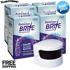 RETAINER BRITE 384 Tabs  Year Supply plus Sonic Cleaner