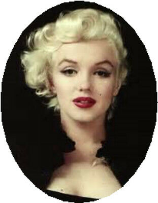 20  WATER SLIDE NAIL ART  DECAL TRANSFERS MARILYN MONROE SOLID BLACK OVAL  5/8
