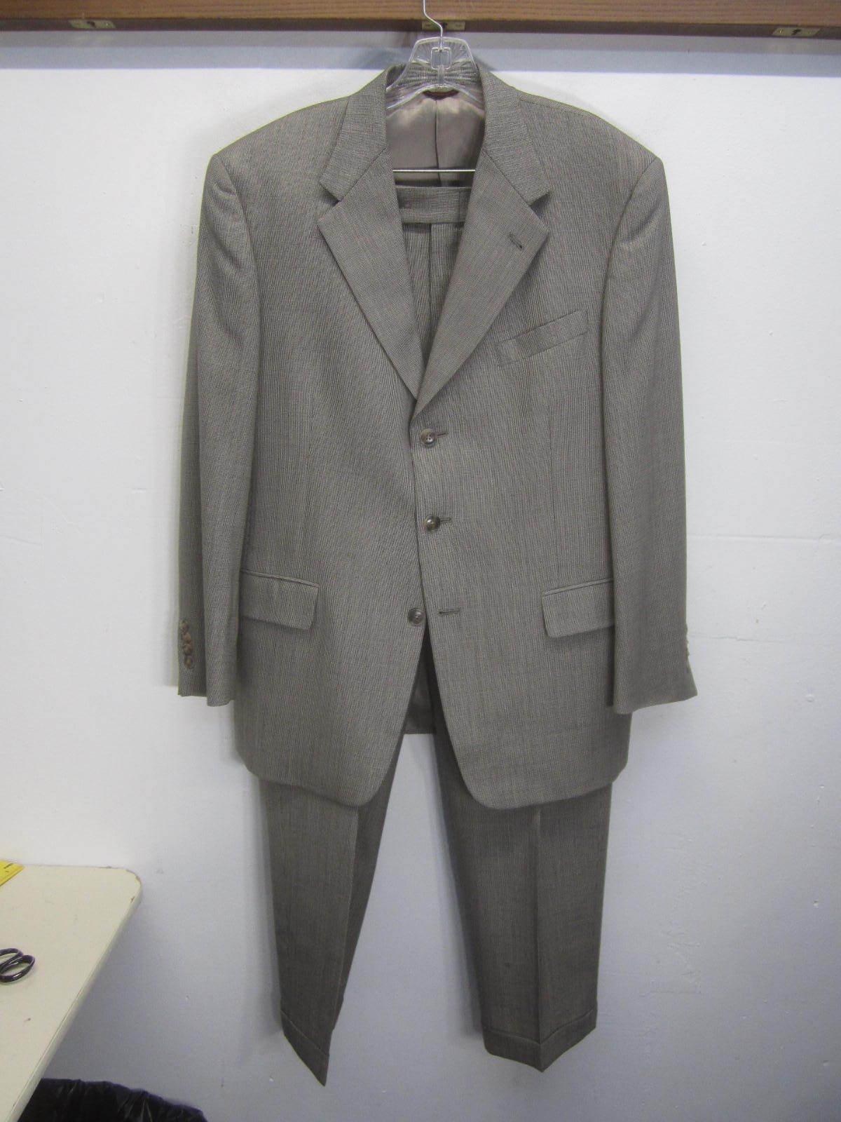 Hart Schaffner Marx Suit Blazer & Pants 3 btn wool sz 40R 34x31