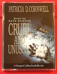 Patricia-Cornwell-Cruel-And-Unusual-Kay-Scarpetta-2-Tape-Audio-Kate-Burton-Crime