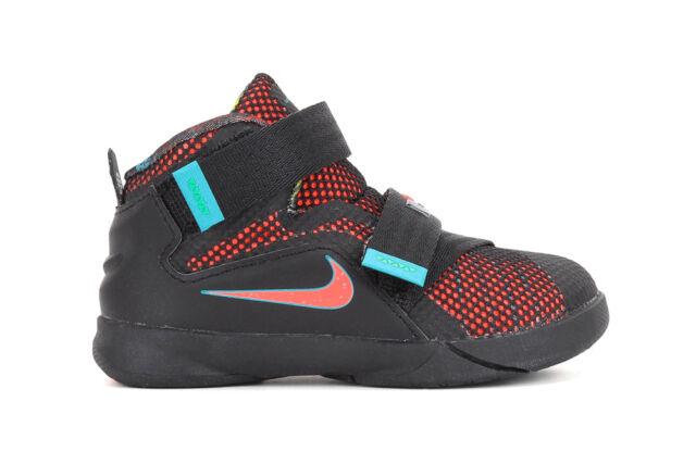 in stock 9ba4a d172d Nike LeBron Soldier 9 IX Toddler Black Orange Blue 776473-084 Sz 5C 6C 7C  NIB
