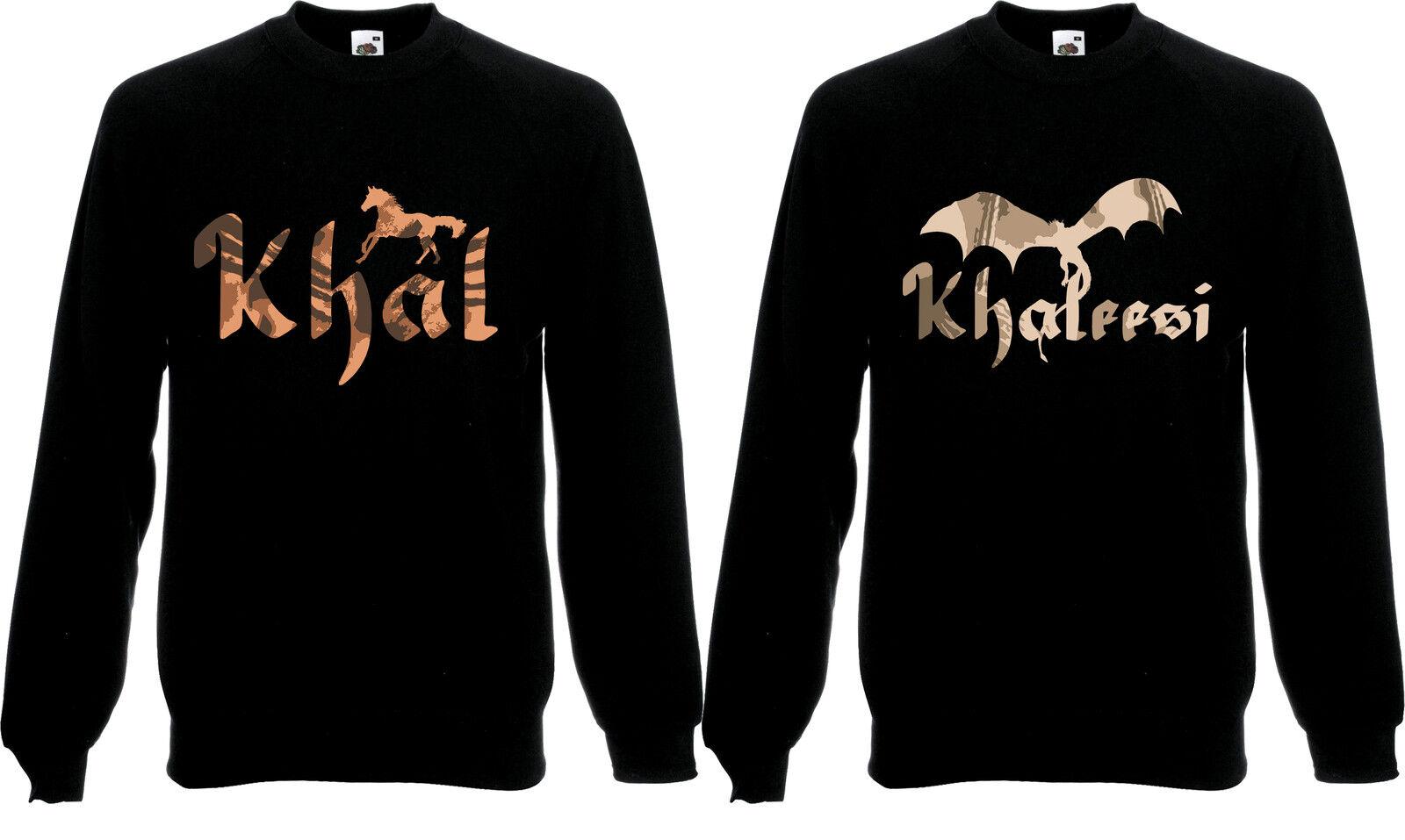 Khal & Khaleesi Valentine Fantasy Couples HorseJumper Sweatshirt Sweat Top AF11