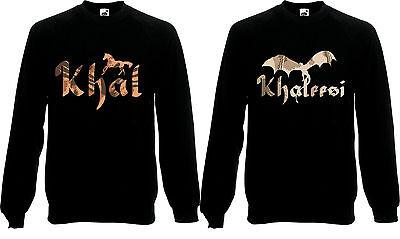 Khal /& Khaleesi Valentine Fantasy Couples HorseJumper Sweatshirt Sweat Top AF11