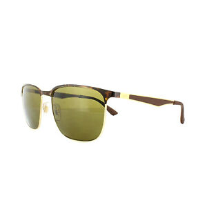 Image is loading Ray-Ban-Sunglasses-3569-900873-Tortoise-Gold-Brown- a38176993c