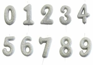 Silver-Glitter-Age-Number-Candle-Birthday-Party-Cake-Topper-Decoration-Gift-Idea