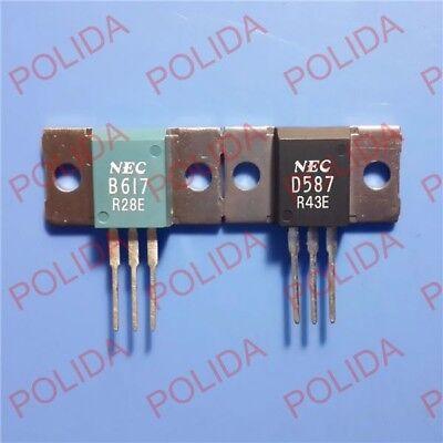 1pair Transistor NEC MT-100 2SB617//2SD587 B617//D587