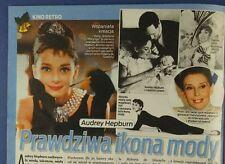 Audrey Hepburn  TATIANA OKUPNIK mag.FRONT cover 2013