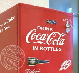 Drink-Coca-Cola-in-Bottles-Aufkleber-40x20cm-weiss-glanz-fuer-Kuehlschrank-Tuer