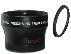 Bower 30-37mm Digital Wide Angle Lens for Sony Handycam camcorder (Black)