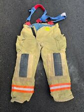 Morning Pride Fire Fighter Turnout Pants With Suspenders 40x32 Good Condition