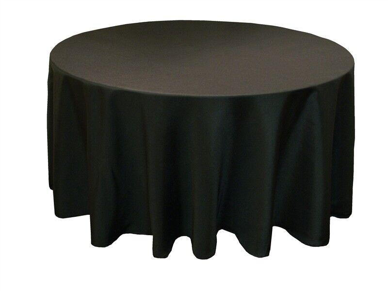8 rond noir 120  Pouces Polyester nappes 5' ft Pieds Table Housse Qualité USA