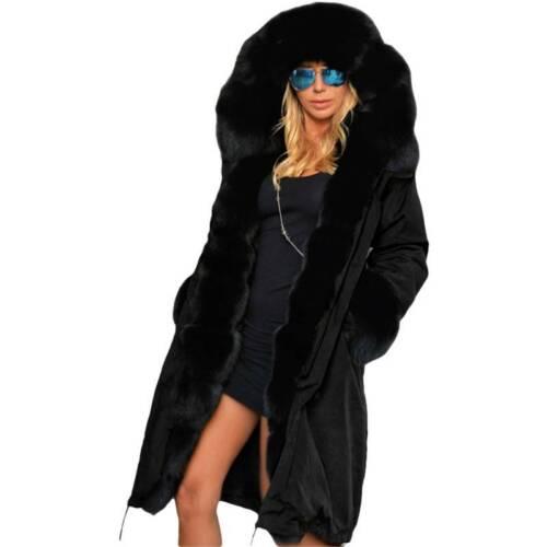 Womens Camouflage Winter Coat Padded Ladies Parka Faux Fur Warm Jacket Cardigans