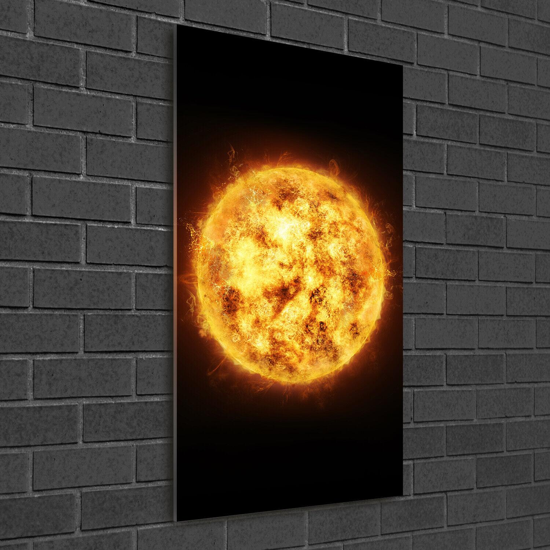 - Muro ARTE Immagine pressione rigida-VETRO verdeICALE 50x100 SOLE