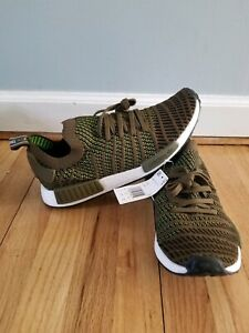 buy online fc713 65423 Details about Adidas NMD R1 Stlt Pk Primeknit Boost Olive Green White Men  size 10.5 New CQ2389