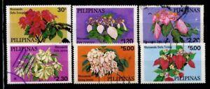 Filippine-1979-Mi-1289-1294-Usato-100-Fiori