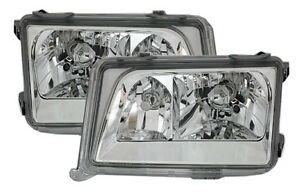Clear-chrome-finish-headlight-set-with-NSW-for-Mercedes-E-Class-W124-93-95