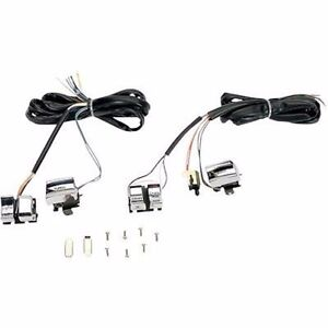 Details about CHROME HANDLEBAR WIRING HARNESS SWITCHES HARLEY DYNA on racing switches, motor switches, ignition switches, lever switches, battery switches, headlight switches, hub switches, brake switches,
